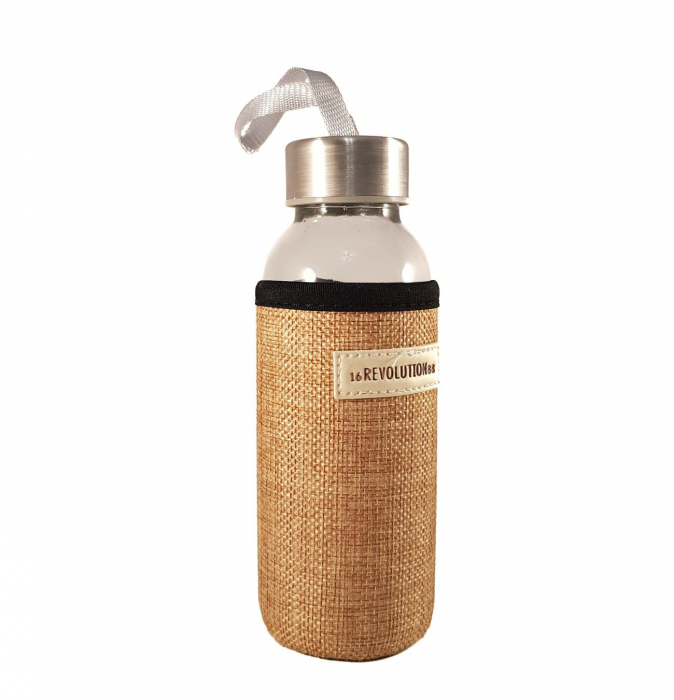 Sticla cu protectie Neopren, Bej, 300 ml 0