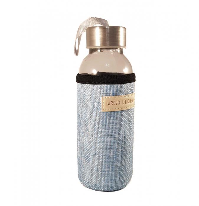 Sticla cu protectie Neopren,Albastru, 300 ml