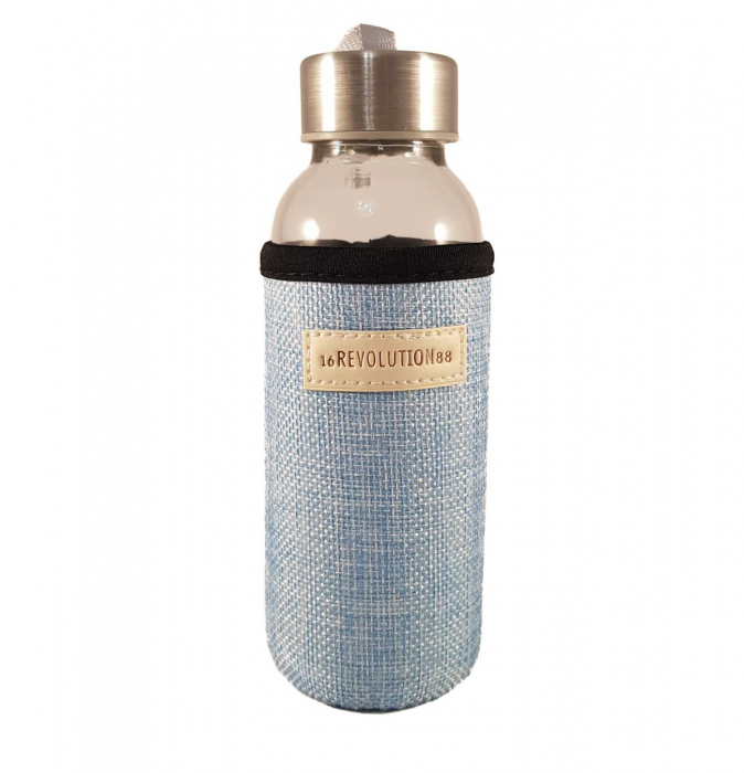Sticla cu protectie Neopren,Albastru, 300 ml 0