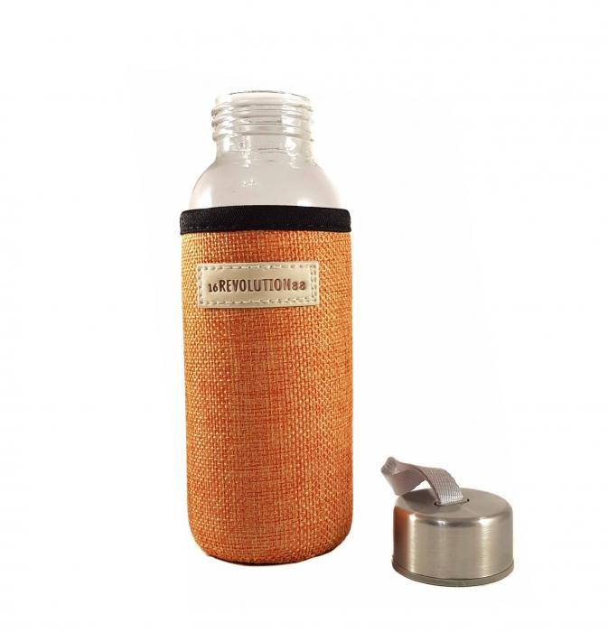 Sticla cu protectie Neopren,Orange, 300 ml 1