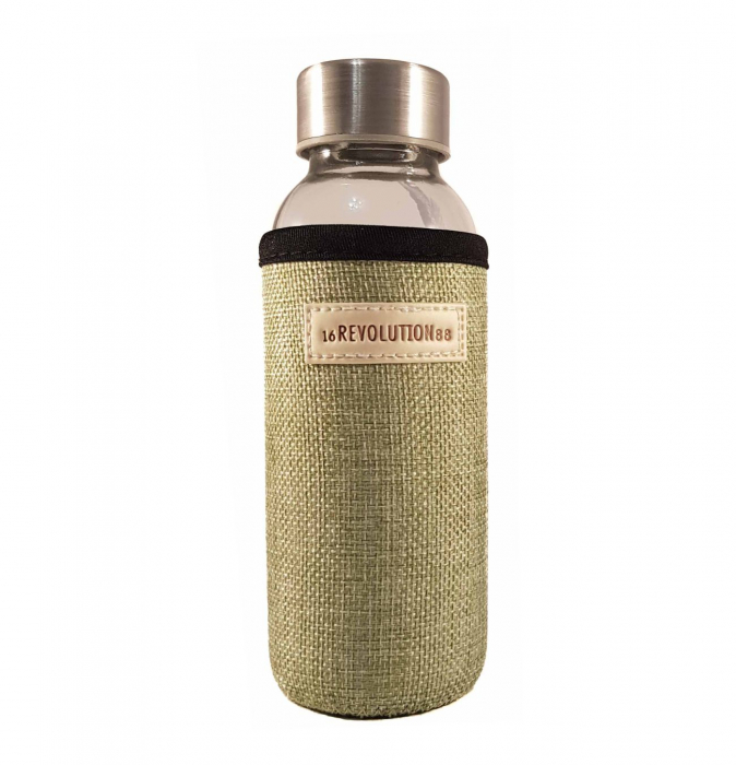 Sticla cu protectie Neopren,Verde, 300 ml 1