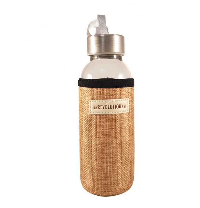 Sticla cu protectie Neopren, Bej, 300 ml 1