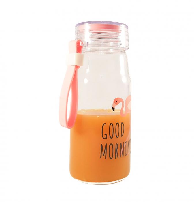 Sticla Flamingo 200 ml, din sticla cu capac ermetic 1