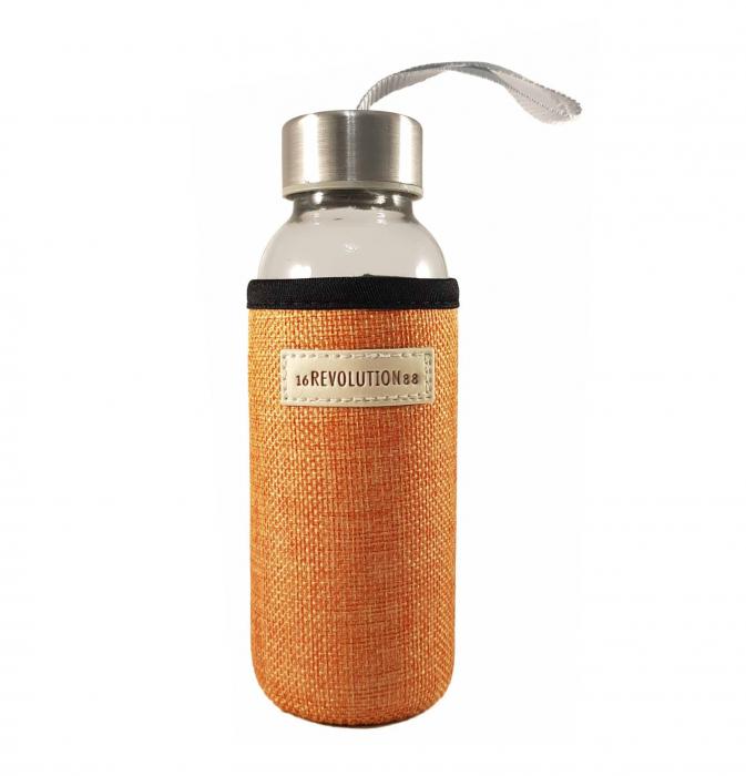 Sticla cu protectie Neopren,Orange, 300 ml 0