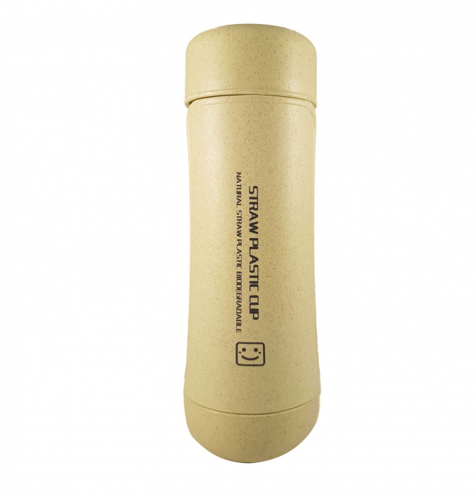 Sticla Termos,protectie Biodegradabila,Verde 3