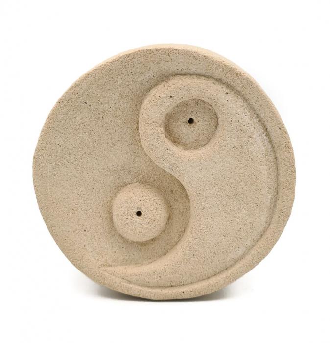 Suport YIN & YANG din piatra, pentru betisoare parfumate 8.5x3 cm [0]
