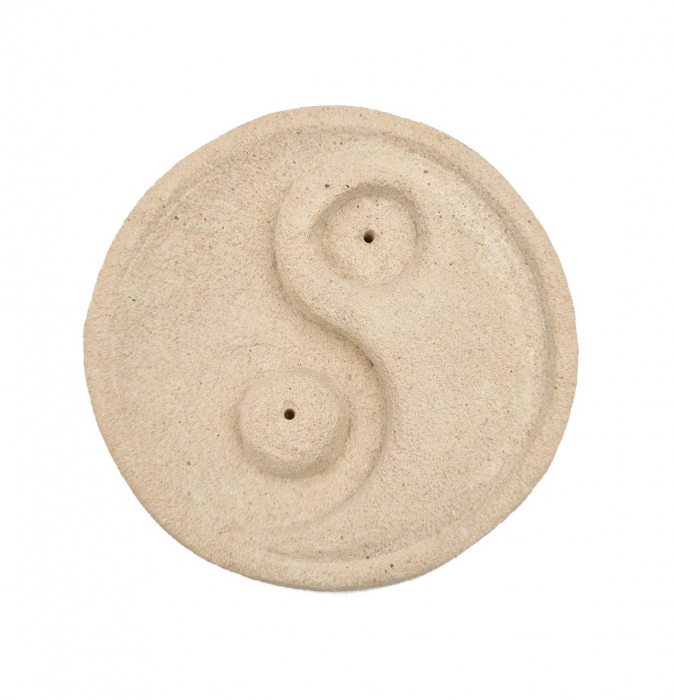 Suport YIN & YANG din piatra, pentru betisoare parfumate 8.5x3 cm [1]