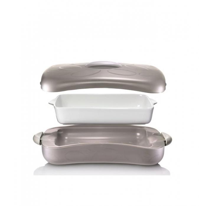 Tava ceramica CHEF cu recipient termoizolator, 2,5 litri 1