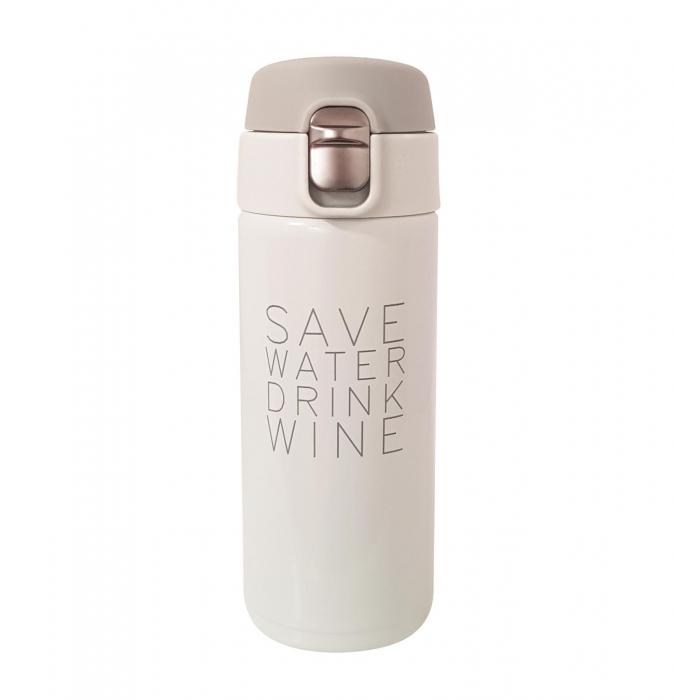 Termos Inox SAVE WATER DRINK WINE, 350 ML, 0