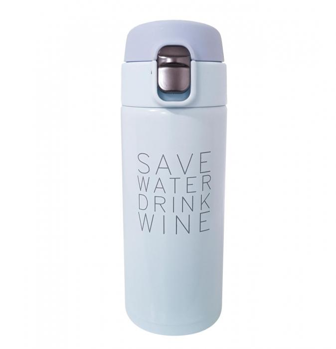 Termos Inox SAVE WATER DRINK WINE, 350 ML, 1