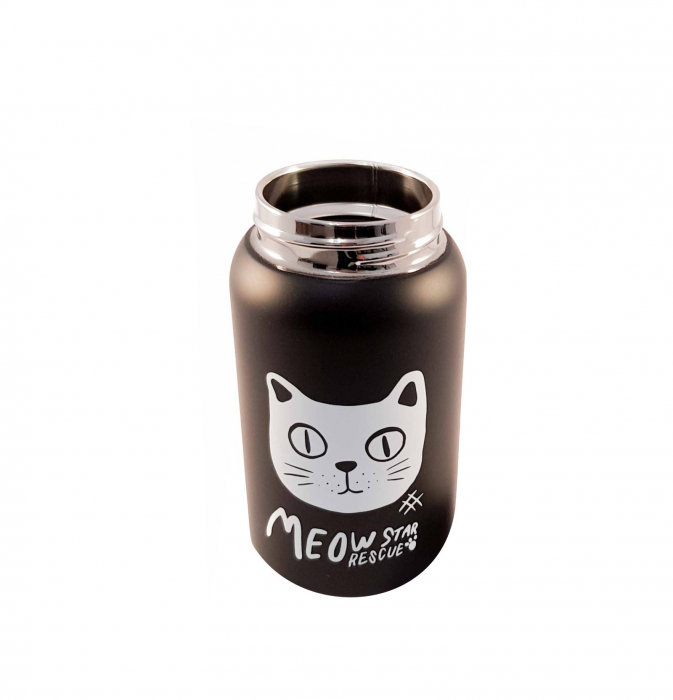 Termos Negru Otel Inoxidabil,CAT, 400ml 2