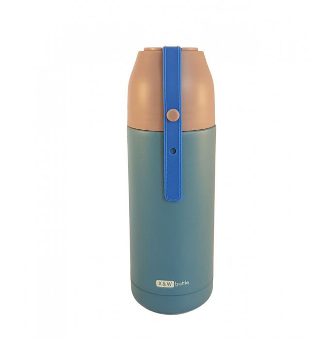 Termos din inox VOGUE Albastru, 350 ml [0]
