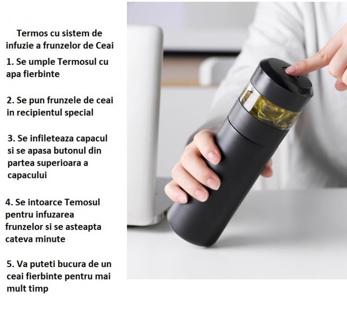 Termos cu sistem pentru infuzie Ceai, 350 ML 8