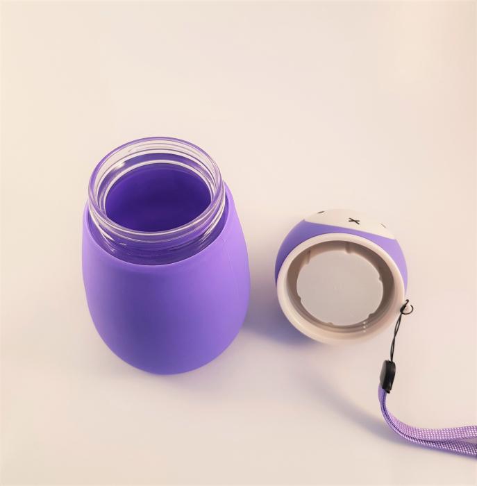 Termos Iepuras din sticla cu protectie din silicon, 380 ml 3