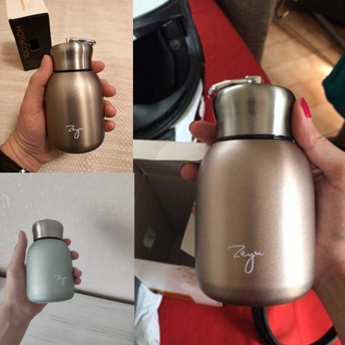 Mini Termos FASHION cu inel pentru transport, 200 ml 9