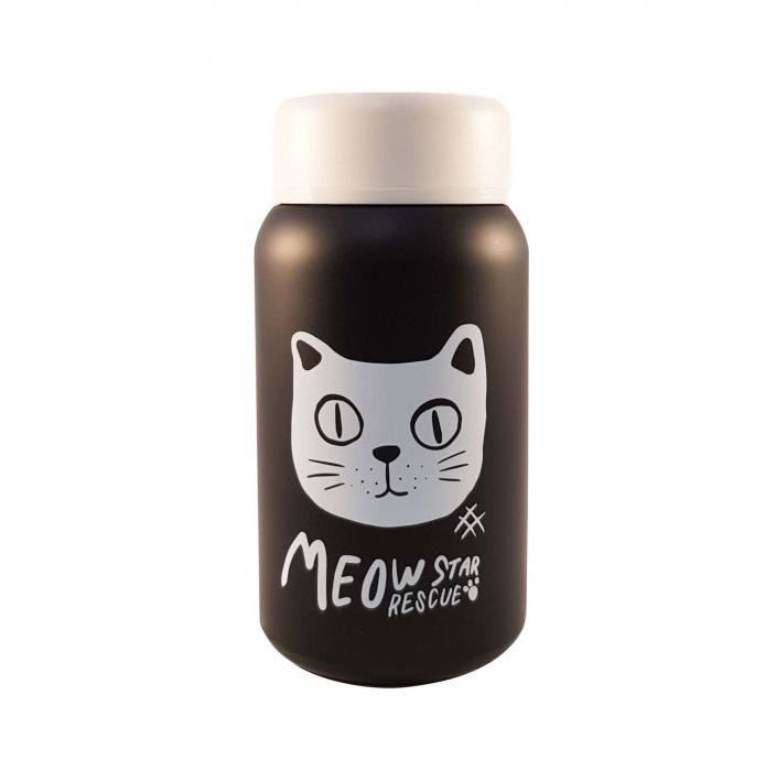 Termos Negru Otel Inoxidabil,CAT, 400ml 0