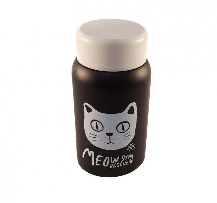 Termos Negru Otel Inoxidabil,CAT, 400ml 1