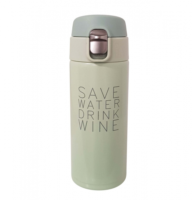 Termos Inox SAVE WATER DRINK WINE, 350 ML, 2