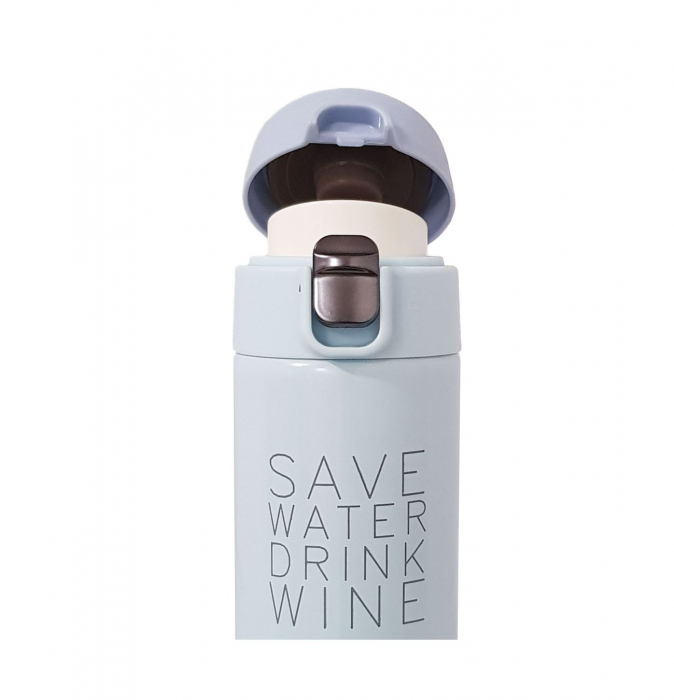 Termos Inox SAVE WATER DRINK WINE, 350 ML, 3