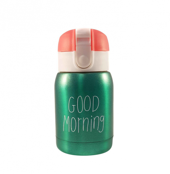 Mini Termos Good Morning, Verde, 180 ml 0