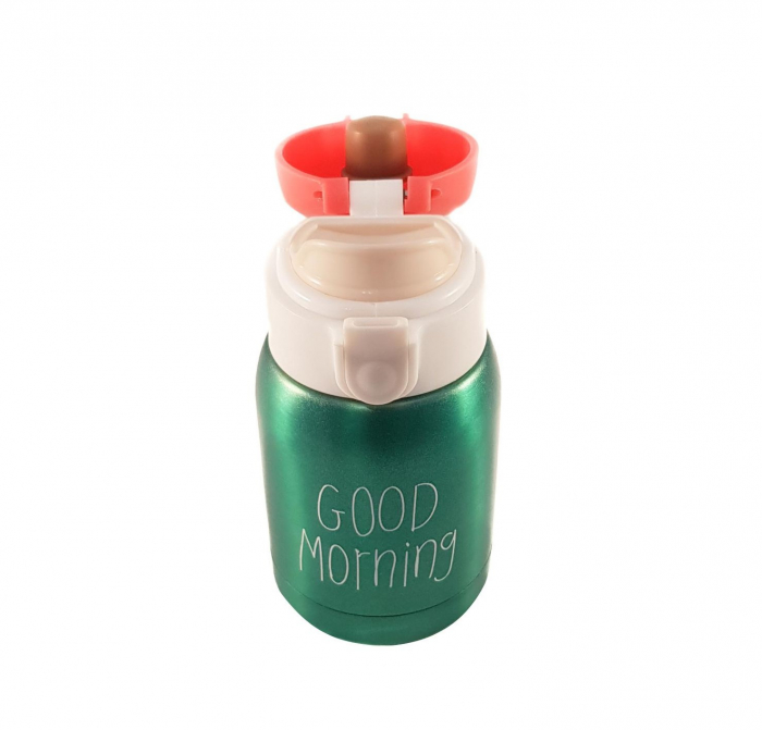 Mini Termos Good Morning, Verde, 180 ml 1