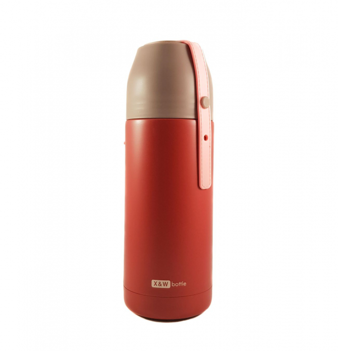 Termos VOGUE din inox, Grena, 350 ml 0