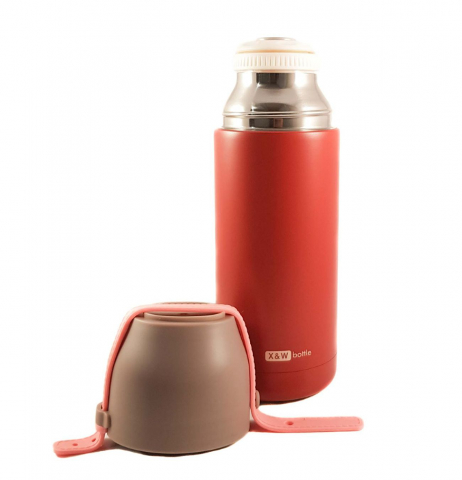 Termos VOGUE din inox, Grena, 350 ml 1