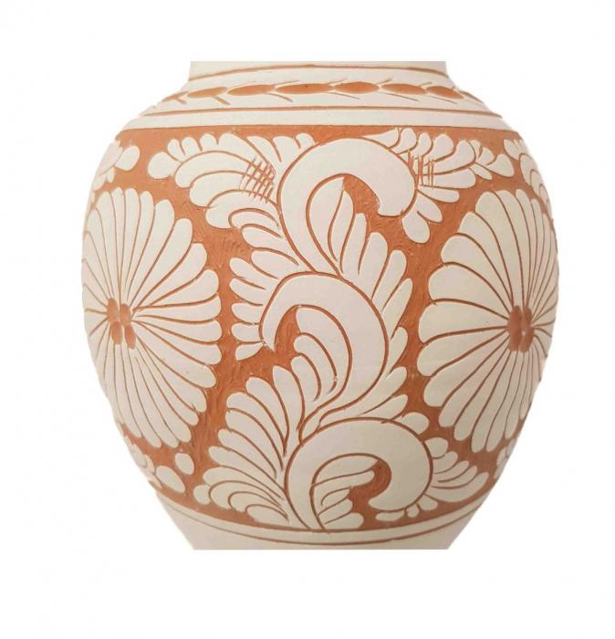 Vaza Traditionala Ceramica, lucrata manual, 8 x 26 cm [2]