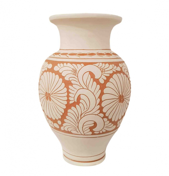 Vaza Traditionala Ceramica, lucrata manual, 8 x 26 cm 0