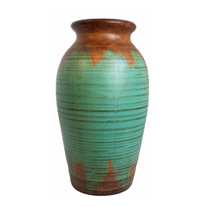 Vaza Ceramica cu capac, TURCOAZ, 37 CM 1