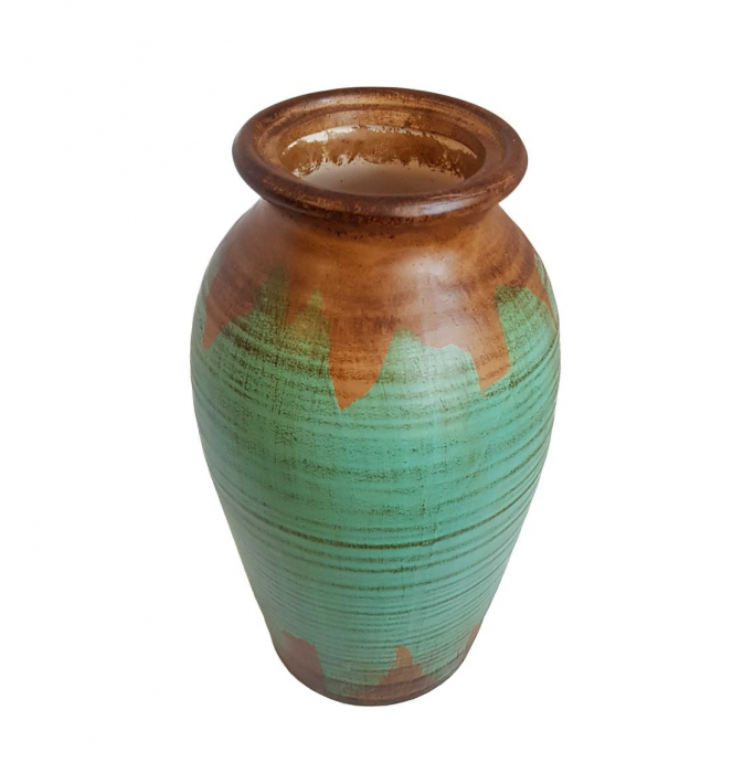 Vaza Ceramica cu capac, TURCOAZ, 37 CM 2