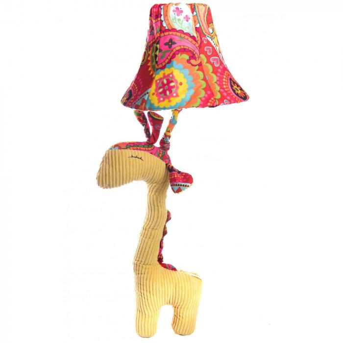 Veioza Girafa 3D din Plus, Galben 0