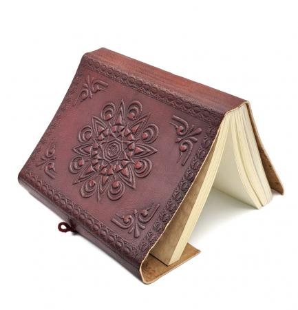 Agenda - Jurnal simbol AUM, coperta din piele, 15X11X CM2