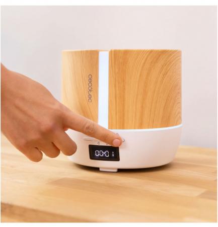 Difuzor aroma cu Ultrasunete Smart PureAroma 500 ml, control Smartphone, 7 culori LED, boxa incorporata - Stejar1