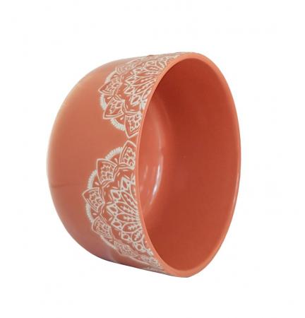 Bol Ceramica MANDALA, 320 ML, culoarea Caramiziu1