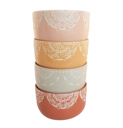 Set 4 Boluri Ceramica MANDALA, 320 ML0