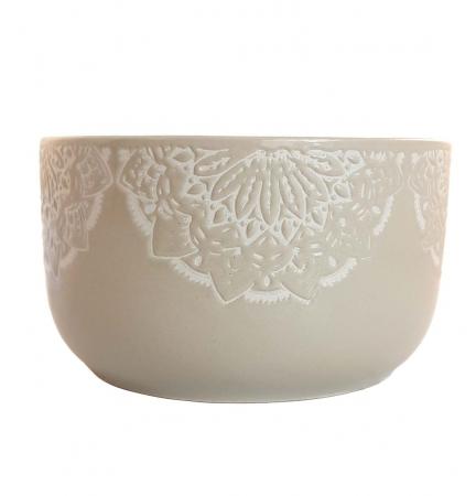Bol Ceramica MANDALA, 320 ML, culoarea Gri
