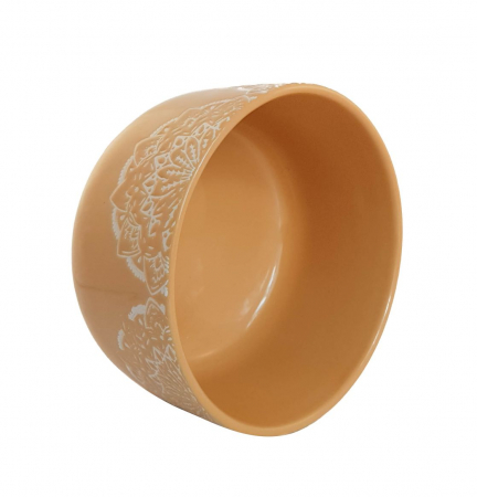 Bol Ceramica MANDALA, 320 ML, culoarea Ocru2