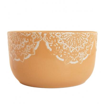 Bol Ceramica MANDALA, 320 ML, culoarea Ocru
