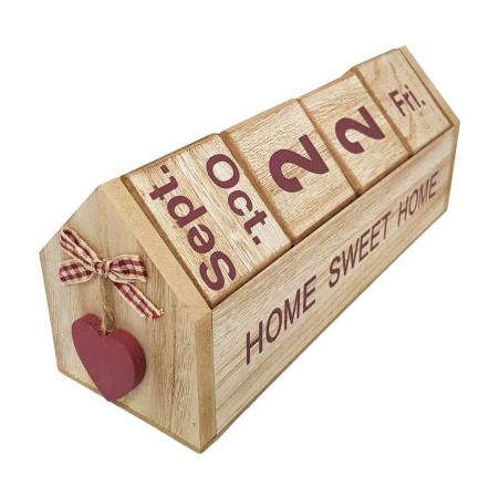 Calendar SWEET HOME cuburi din lemn, 26 x 8.5 x 10.5 CM0