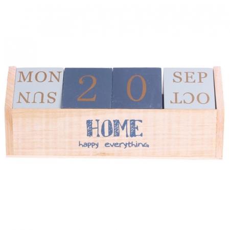 Calendar HOME cuburi din lemn, 26 x 8.5 x 10.5 CM0
