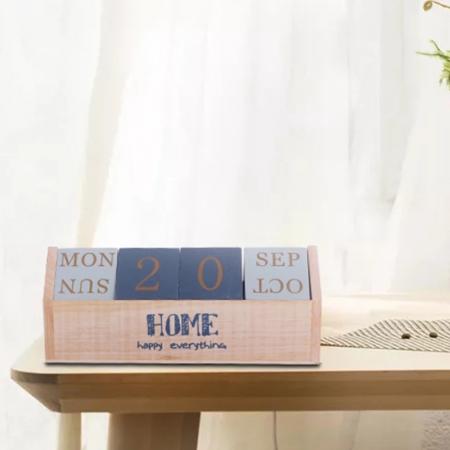Calendar HOME cuburi din lemn, 26 x 8.5 x 10.5 CM3