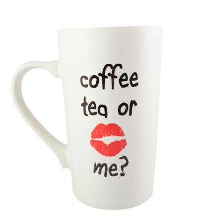 Cana ceramica COFFEE TEA ROSU 450ml0
