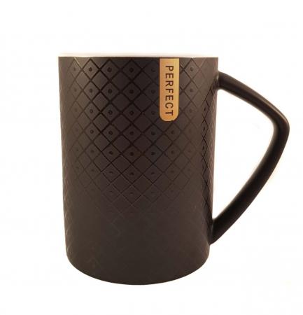 Cana ceramica Perfect Life cu capac, Negru, 400 ml1
