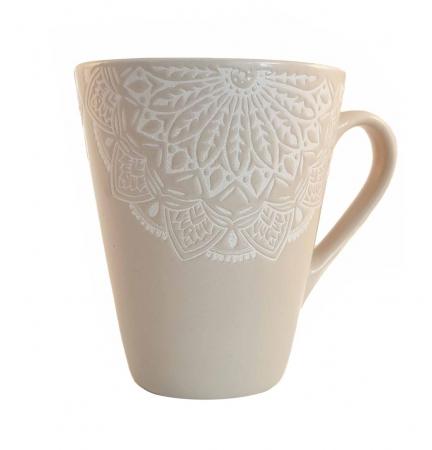 Cana MANDALA, culoare Gri, 300 ml, Ceramica1