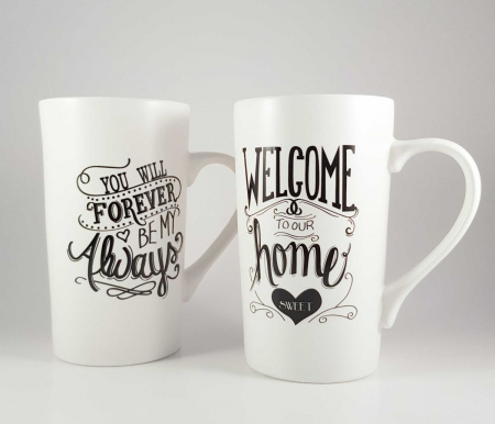 Cana ceramica WELCOME HOME 450 ml1