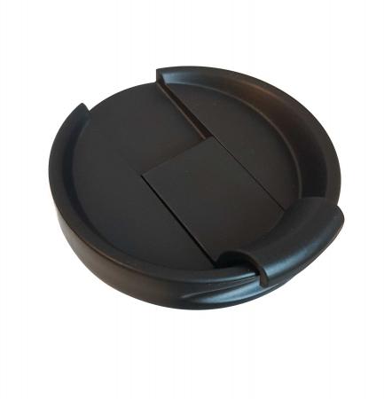 Cana termos din Inox cu perete dublu, Negru, 460 ml3