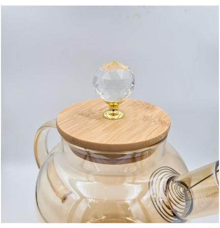 Carafa din sticla Borosilicata, GOLDEN, 1,5 Litri [2]