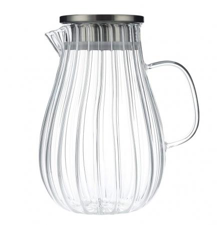 Carafa din sticla Borsilicata, cu maner din sticla, 1.5 Litri3