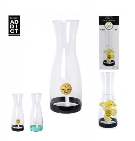 Carafa pentru Limonada sticla transparenta si negru ,1 Litru3